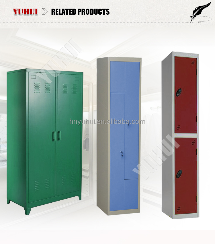 2 door clothing steel locker/wardrobe double door steel locker wardrobe