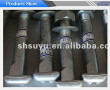 Suyu galvanized black bolts and nuts high tensile grade 8.8