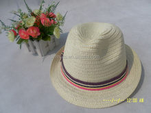 Cost price high quality custom blank men paper straw fedora hat