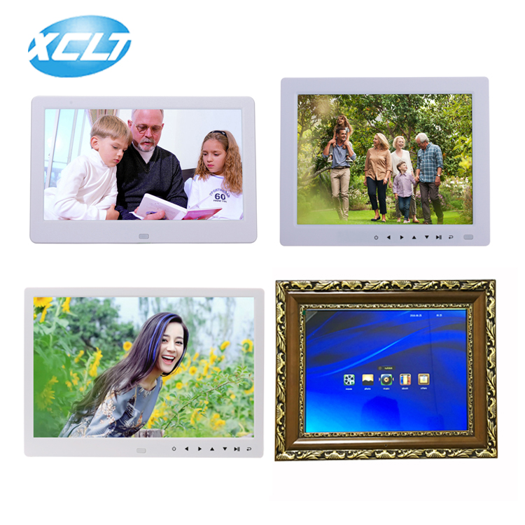 Factory wholesaler 10 inch 16:9 video loop digital photo frame advertising machine