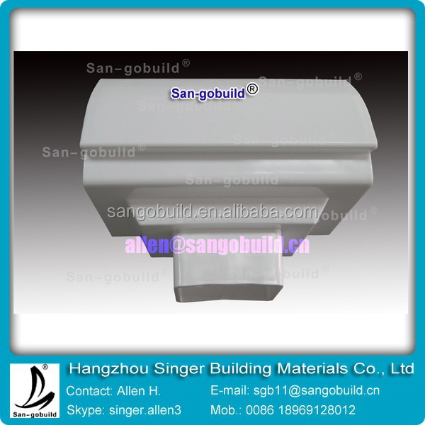 Direct Manufacturer ISO9001 Certificated Hot sale drop outlet 7 inch pvc rain gutter system