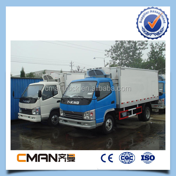 China hot-sale T-King model freezer cargo van for sale
