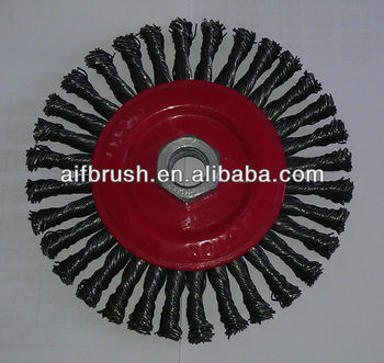 2014 twist knotted wheel brush with thread M14*2 Nut
