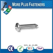 Made In Taiwan DIN 7981 Cross Recessed Pan Head Tapping Screw