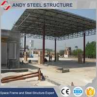 Easy to Install Steel Space Frame for Gas Fuel Station Roofing