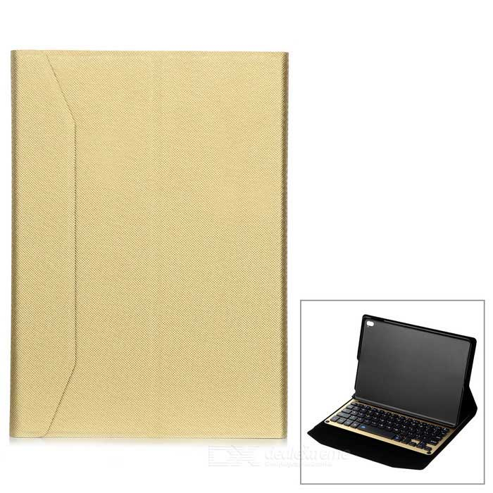 Aluminum Alloy 64 Keys Bluetooth V3.0 Keyboard Case w/ Leather Stand Cover for IPAD PRO 9.7''
