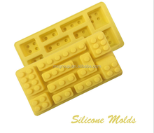 Silicon ice cube tray container,Popsicle Ice cream mold,Chocolate lollipop Candy bar mould Toy block large ice cube tray