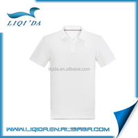 Summer men plain white sport breathable polo t-shirt 100% cotton