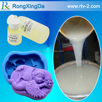 Low viscosity silicone rubber for moulding gypsum, concrete