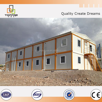 two storey easy assembly flat top container house for labour accommodation