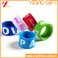 Cheap custom silicone slap bracelets for kids/ Reflex Slap Wraps