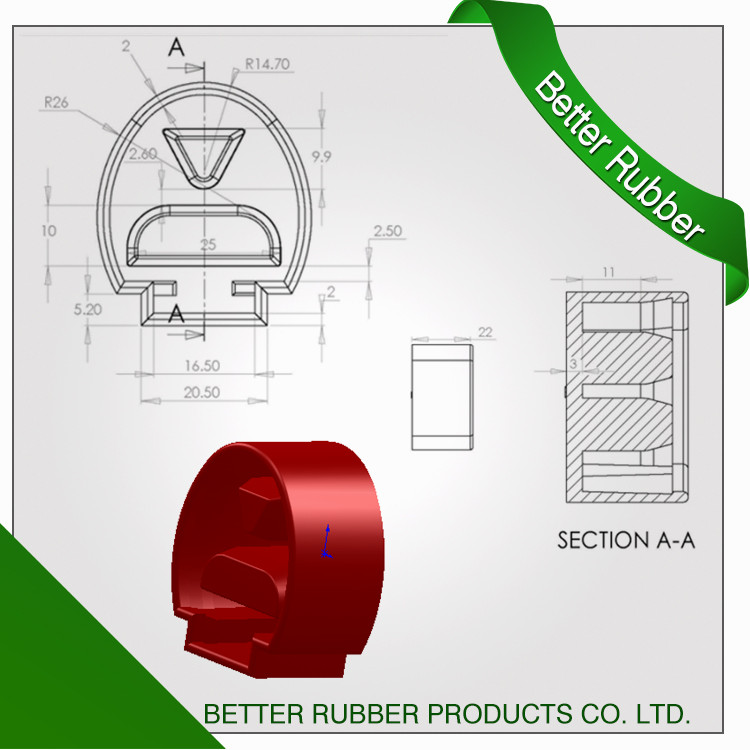 Better Rubebr Luggage door cover
