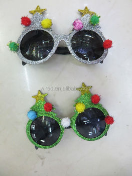 2014 The most popular latest fashion Christmas tree shape sunglasses