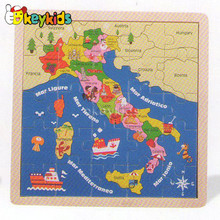 2016 wholesale baby wooden map jigsaw puzzle, educational kids wooden map jigsaw puzzle, child wooden map jigsaw puzzle W14C146