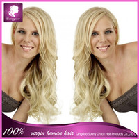 brazilian 100% virgin human hair new products #613 blonde body wave lace front wigs side parting for white women