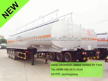 China carbon steel 40000-60000L 3 axles trailer mounted fuel tank 0086-13635733504