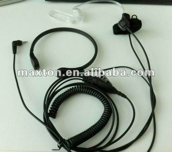 2 way radio Throat mic with finger PTT for NEXTEL radio