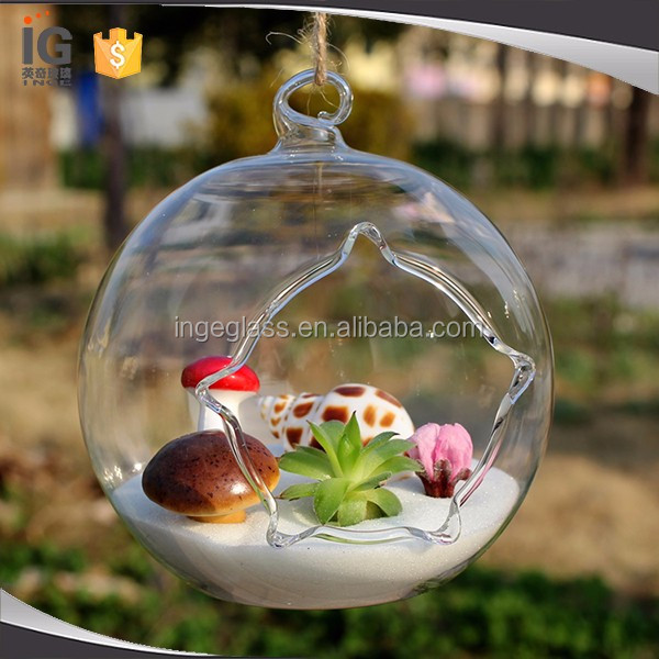 4 Inches Hanging Glass Orbs for Home Decor