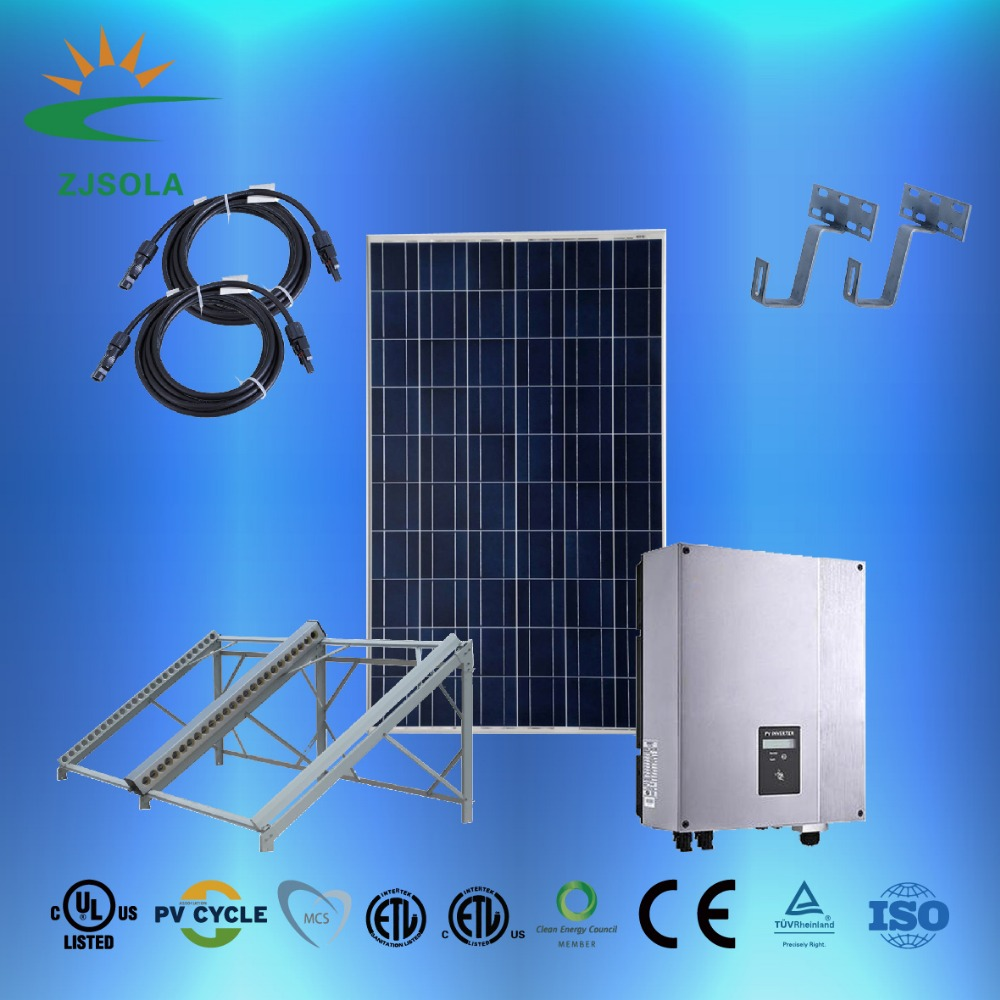 ZJSOLA good quality 20kw/30kw/50kw/100kw on grid solar power system Solar Energy System Industrial Use Cheap Price
