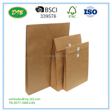 kraft paper A4 /B4/A3 document bag, A4 file folder envelope for office storage
