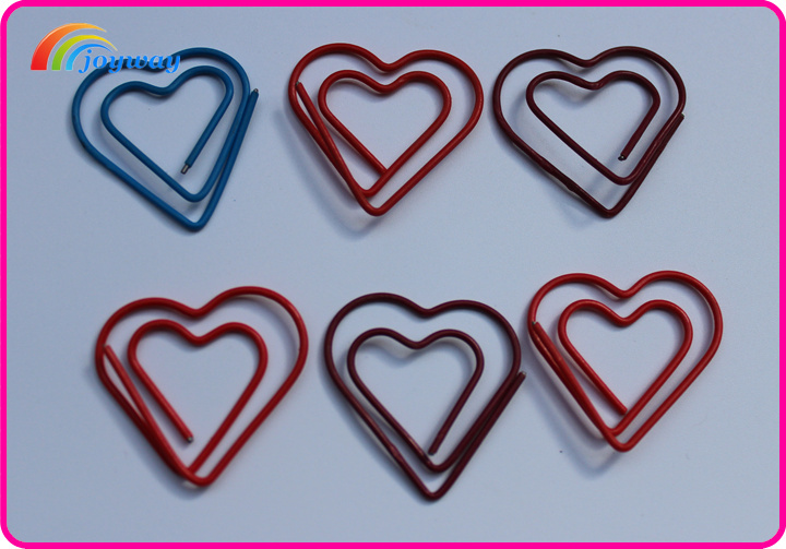 New design lovely heart shaped paper clip for kids