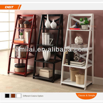 Hot sale MDF + WOODEN modern bookcases decorative book shelf with a large space