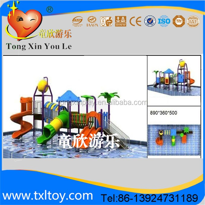 Newly design large plastic water slide for sale