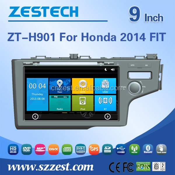 car stereo For Honda 2014 FIT 2 din car dvd car radio with gpswith radio AM/FM CANBUS multi-language