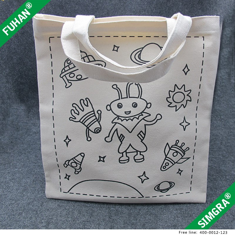 Wholesale cotton canvas cotton bag, unbleached cotton tote bags