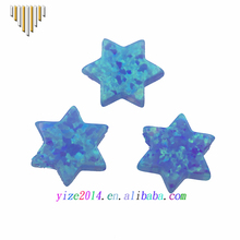 12mm Star of David Lab Created Synthetic Opal for Necklace Jewish Charm Pendant