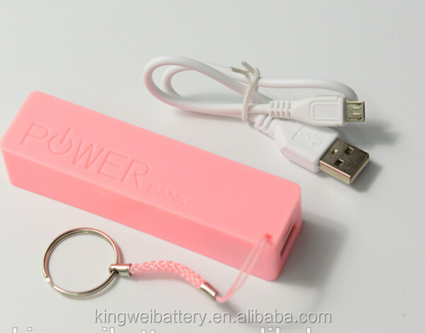 Latest design Large Capacity USB Power Bank , 18650 battery mini power bank 2600mah supply
