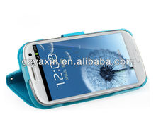 Newest fashion PU wallet leather case for Samsung galaxy s3 i9300,animal shape case for samsung galaxy s3