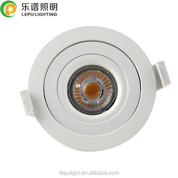 360deg tilt UGR adjustable dim to warm 2000-2800k 83mm cutout cob led downlight downlight