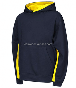 Custom color and size Plain youth pullover hoodie/hoody navy blue
