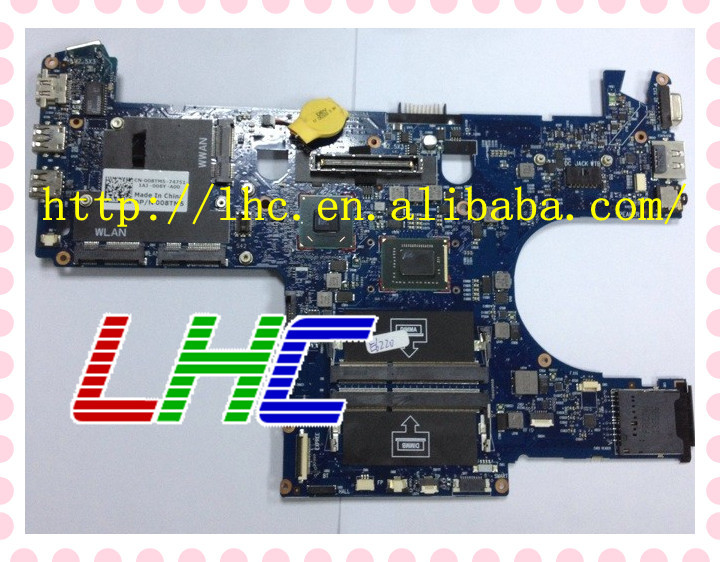 New arrival Hot sales For Dell E6220 intel QM67 integrated i7-2640M CPU on board OR97MN 2.5GHz laptop motherboard fully tested