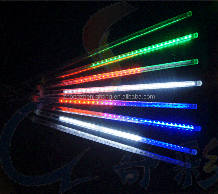 led meteor rain light
