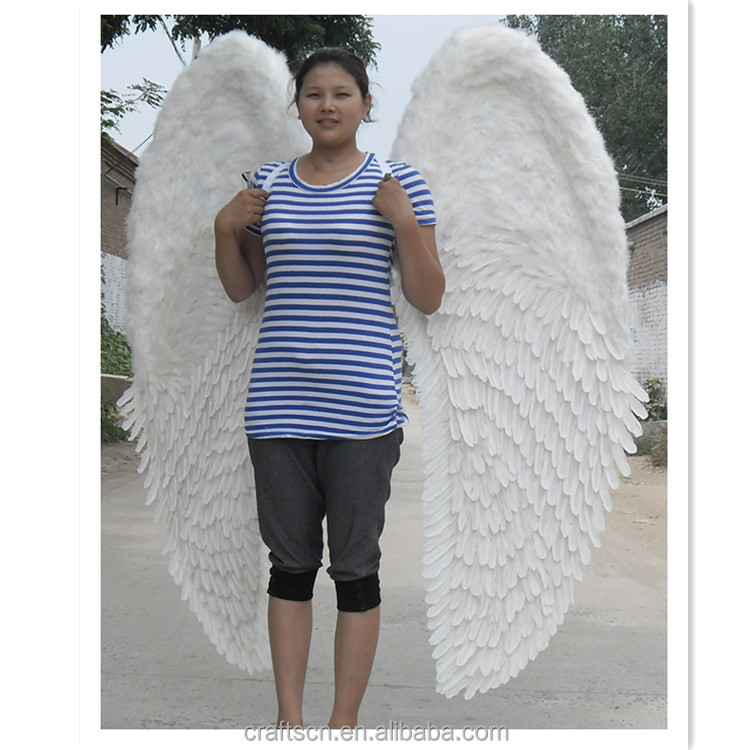 beautiful white feather angel wings costume with elastic straps