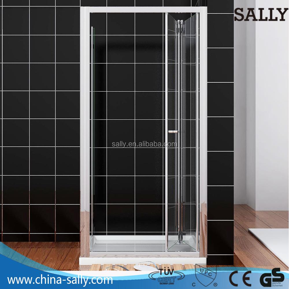 B1202 800mm Bi Fold Shower Enclosure Door 6mm Thick Glass Door For
