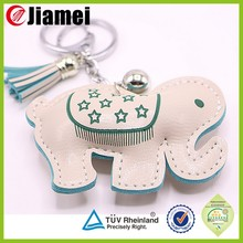 luxury genuine leather soft toy keychains toy promotional gifts handmade keyrings