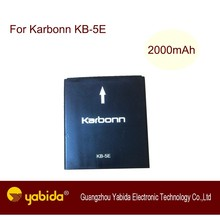 Rechargeable Li-ion mobile battery For Karbonn KB-5E 3.7V 2000mAh A25 cell phone battery