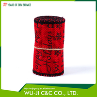 100% jute gift wrapping custom ribbon roll