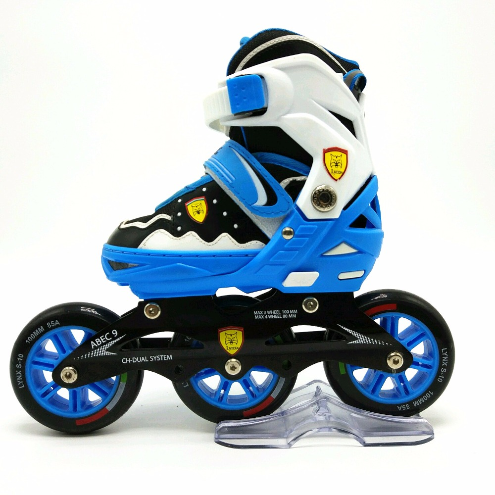 2017 factory quad skates supply roller skating 3 wheels single roller skates for kids