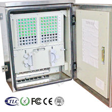 ftth optic fiber cable connection outdoor wall mount telecom cabinet