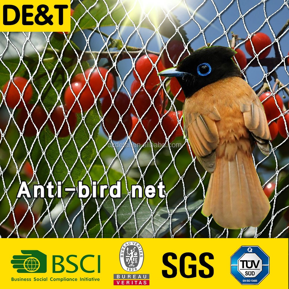 garden bird netting, anti-bird mesh pe+pp+uv (factory price), hail protection nets for agriculture