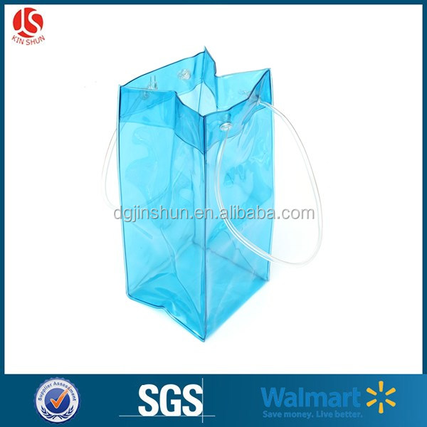 Hot sale PVC plastic wine ice coolor bag