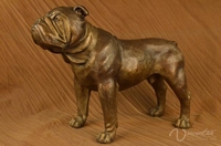 Hot sale outdoor decoration metal art crafts bronze life size bulldog statue