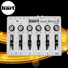Maker hart 120V usb audio broadcast console gaming audio mixer 3.5mm by Taiwan