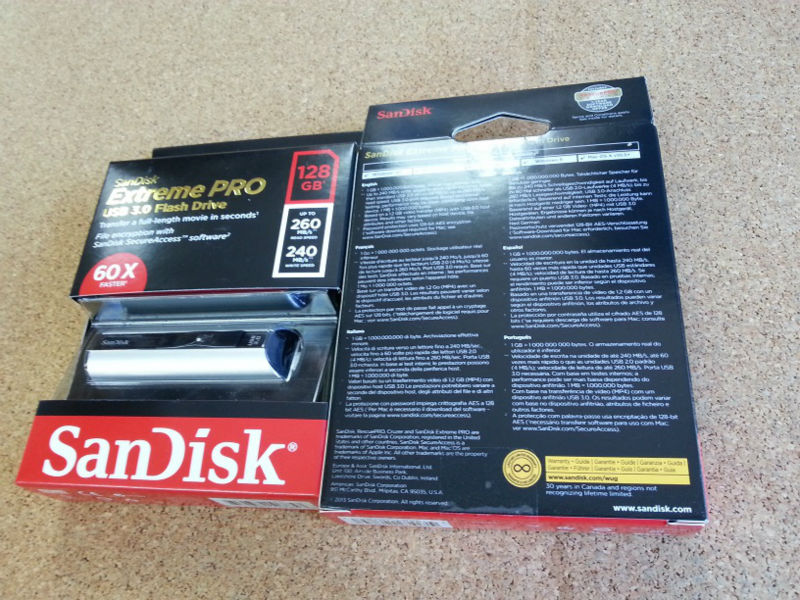 SDCZ88-128G Sandisk Extreme PRO USB 3.0 Flash Drive