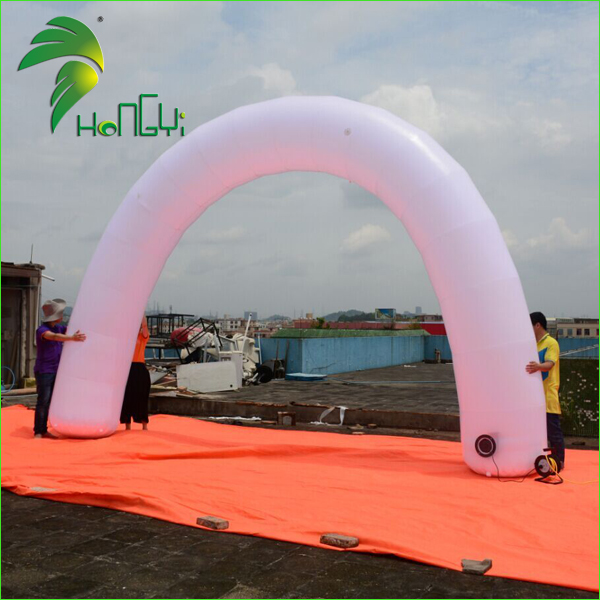 Hot Air White Inflatable Arch , Inflatable Entrance Archway For Wedding