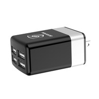Customized Design 12 Watt 2.4 Amp US Plug 4 Port USB Charger For Apple And Android Devices
